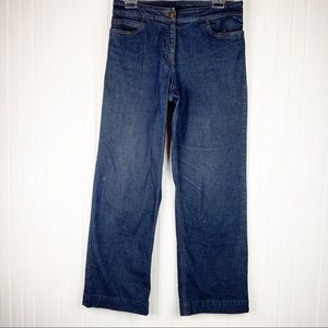 Eileen Fisher straight wide leg Jeans size Small